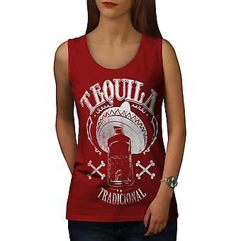 Tequila Traditional Women RedTank Top | Wellcoda