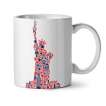 New York Statue Freedom NEW White Tea Coffee Ceramic Mug 11 oz | Wellcoda