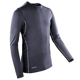 Sport Spiro Mens compressione Bodyfit Long Sleeve Base Layer Top