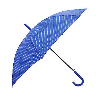 Womens/Ladies Automatic Opening Polka Dot Walking Umbrella