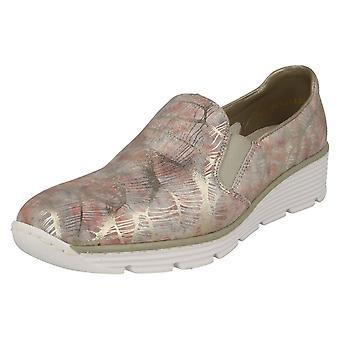 Дамы Rieker случайные плоские скольжения на обувь 58766