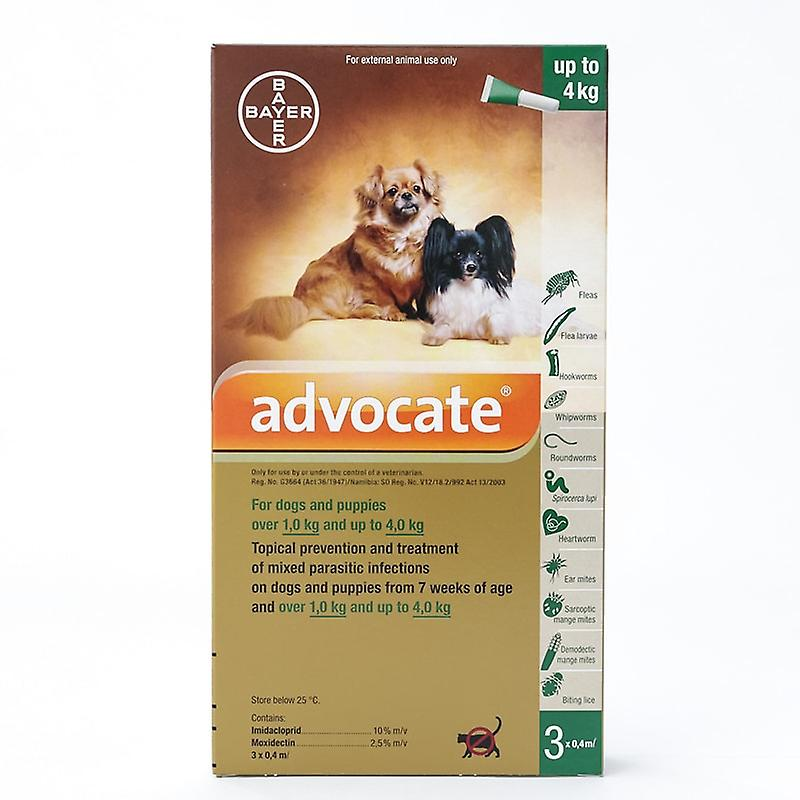 Advocate for dogs and puppies below 4kg (8.8 lbs), 3 Pack