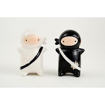 Baby Dueling Ninja strijders Salt and Pepper Shakers