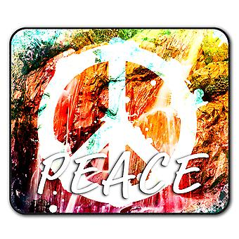 Make Love Not War  Non-Slip Mouse Mat Pad 24cm x 20cm | Wellcoda