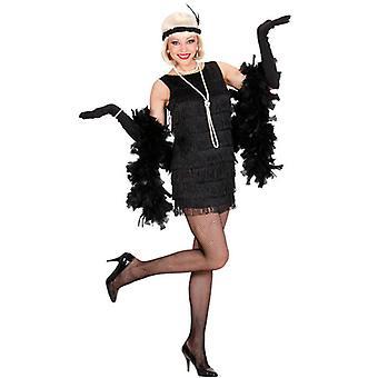 Robe de luxe clapet noir (robe, gants, bandeau)