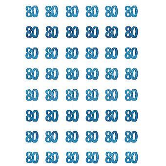 Bursdag glitter blå - 80 bursdag prisme hengende dekorasjon