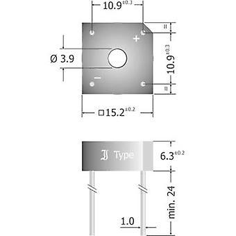 Diotec KBPC604 Diode bro KBPC 400 V 6 A 1-faset