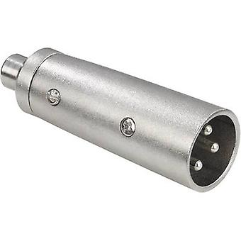 Paccs audio/phono adapter [1x XLR plug-1x RCA-aansluiting (phono)] zilver