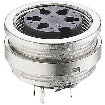 Lumberg KFR 30 DIN connector Socket, vertical vertical Number of pins: 3 Silver 1 pc(s)