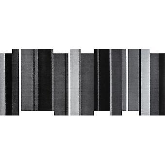 lavar + secar dançando tapete lavável de passos preto 80 x 200 cm