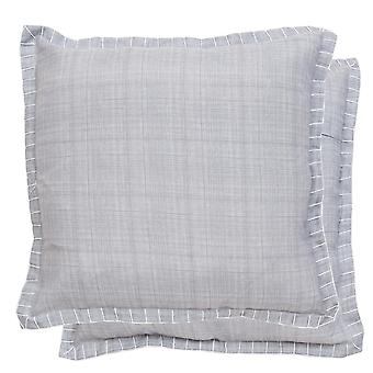 Clayre & EEF plain pillowcase set of 2 pillow case with lines approx. 45 x 45 cm