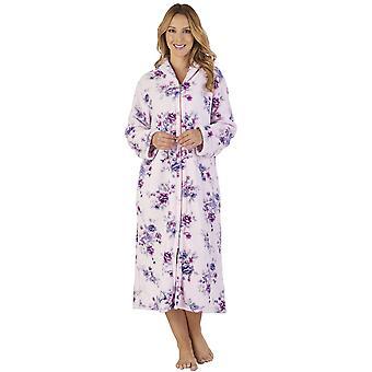 Slenderella HC2312 nők ' s Coral Fleece Floral Robe loungewear Bath öltöző ruha