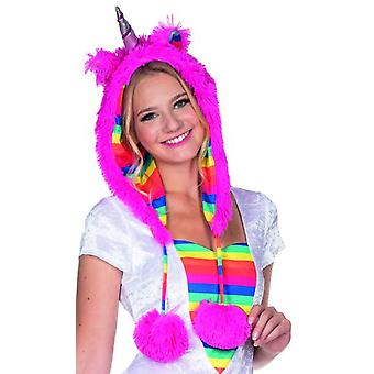 Unicorno cappello rosa peluche accessorio carnevale fata racconto Festival