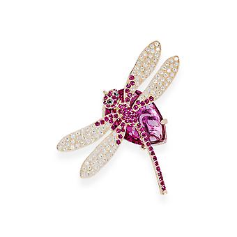 Pink brooch with crystals from Swarovski 7065