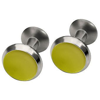 Titanio Ti2 redondo cóncavo gemelos - amarillo limón