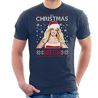 Britney Spears son Noël Bitch tricoter T-Shirt homme