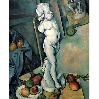 Plaster Cupid and the Anatomy,Paul Cezanne,71x57cm