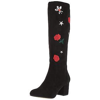 Betsey Johnson Womens Baylor Fabric Almond Toe Knee High Fashion Boots