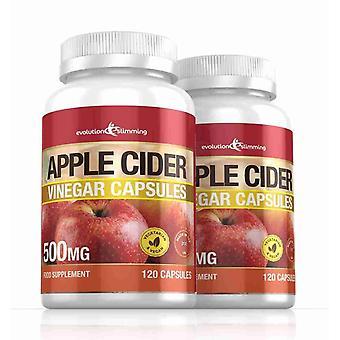 Apple Cider Eddike 500mg kapsler - 240 kapsler - fedtforbrænder - Evolution slankende