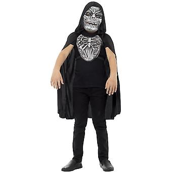 Grim Reaper Kit, Child, White, with EVA Mask & Chest Piece