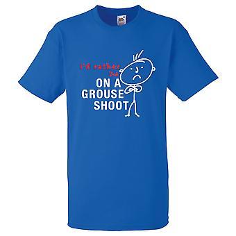 Mens, que je préfère être sur un tétras Shoot Tshirt bleu Royal