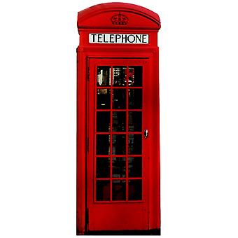 Classic Red Phone Box - Lifesize Cardboard Cutout / Standee