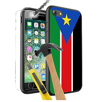 For Sony Xperia Z5 Premium - South Sudan Flag Design Printed Black Case Skin Cover with Tempered Glass - 0164 by i-Tronixs