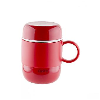 Red 0.28 Litre Capsule Drinking Pod Flask with Handle