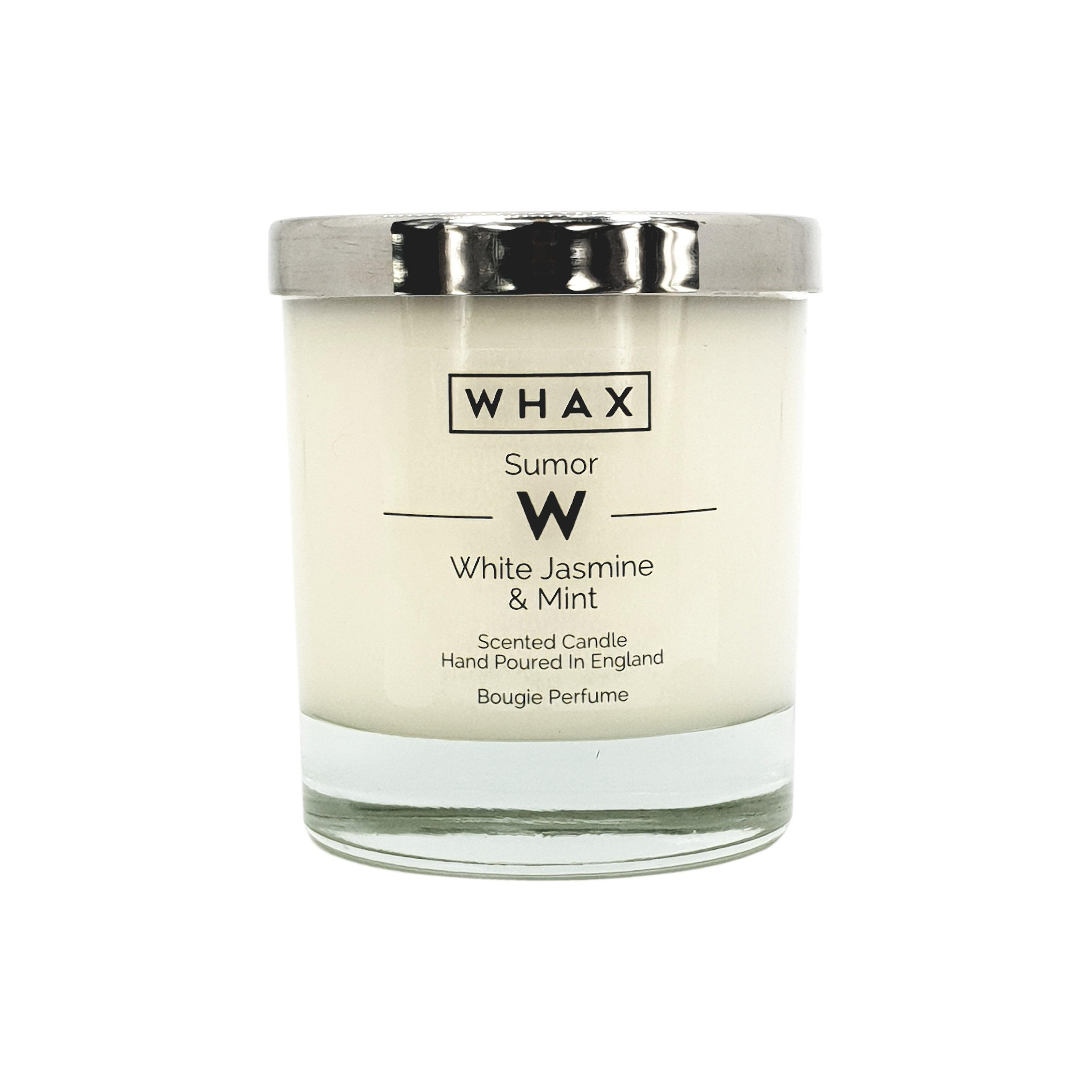 White jasmine & mint luxury scented candle