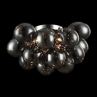 Maytoni Lighting Balbo Smoke Modern Glass Globe Plafond Lampe (fr) Idées4Éclairage