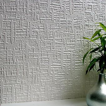 Papel tapiz se puede pintar con textura vinilo lujo realzado Durable Edward Anaglypta
