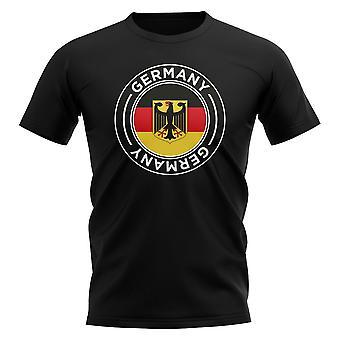 Allemagne Football Badge T-Shirt (Black)