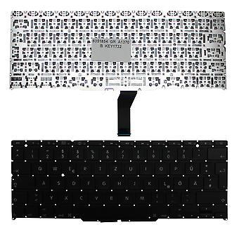 Apple MacBook Air A1370 (EMC 2393) Backlit-Version (ohne Hintergrundbeleuchtung Board) schwarze deutsche Layout Ersatz Laptop-Tastatur
