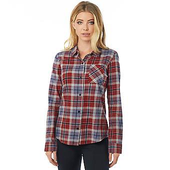 Fox Racing Womens Big Air Flannel LS Shirt - Bordeaux
