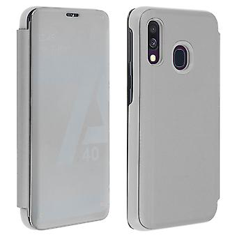 Flip Case, Mirror Case for Samsung Galaxy A40 - Silver
