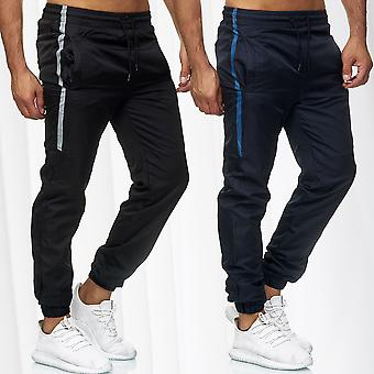 Men's Jogging Sports Trousers Fitness Activewear Bottoms Stripes Track Pants