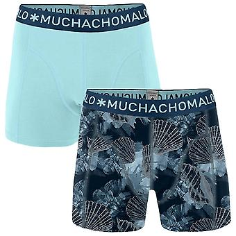 Muchachomalo Printed Coral 2-Pack Boxer Shorts - Blue