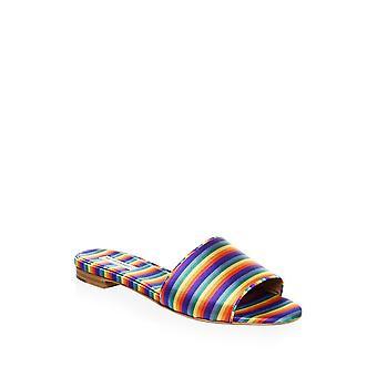 Tabitha Simmons Womens Sprinkles Silk Open Toe Casual Slide Sandals