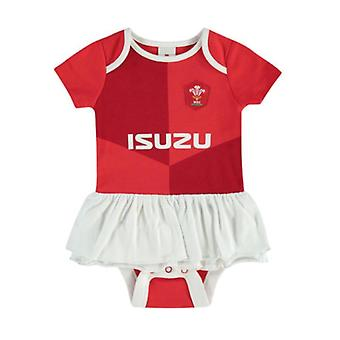 Wales WRU Rugby Baby Mädchen Kit Tutu Body | Rot | Saison 2019/20
