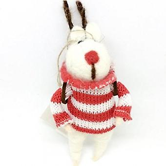 Gisela Graham Fabric Mouse with Antlers