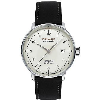 Iron Annie Bauhaus Automatic Analog Men's Watch with Cowskin Bracelet 5056-1