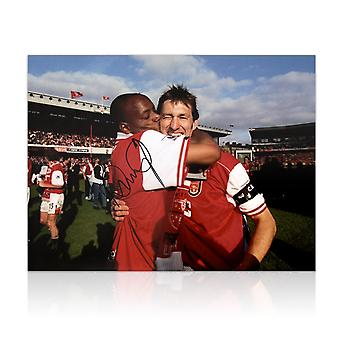 Ian Wright Signed Arsenal Photo: 1998 League Winners