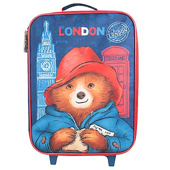 Paddington Bear London Large Wheeled Travel Case Blue