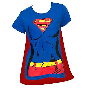 Superman Supergirl Cape kostym Tee Shirt