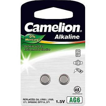 Camelion AG6-nappi kenno LR 69 alkali-mangaani 25 mAh 1,5 V 2 kpl (s)