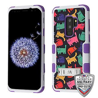 MYBAT Colored Kittens/Purple TUFF Hybrid Phone Protector Cover pour Galaxy S9 Plus