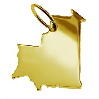 Anhänger Landkarte Kettenanhänger in gold gelb-gold in der Form von MAURETANIEN