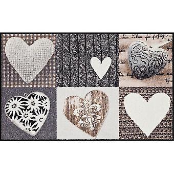 Salon Leeuw voet mat wasbaar Alpen geluk hart 75 x 120 cm, SLD0122-075 x 120