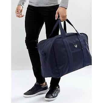 Fred Perry Checked Twil Holdall Shoulder Gym Bag - L3202-608 Navy