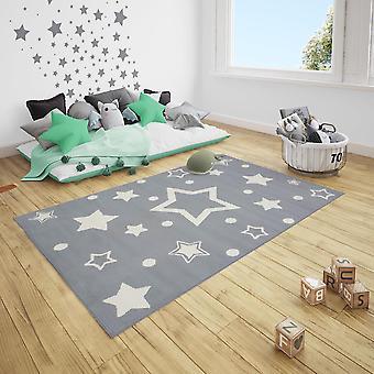 Short Flor Children's Carpet Starlight Stars